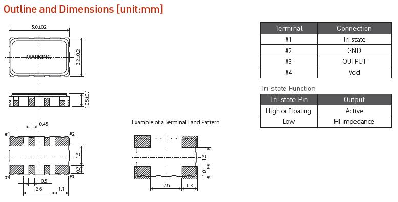 希华晶振,有源晶振,OSC52晶振,打印机l四脚有源晶体振荡器