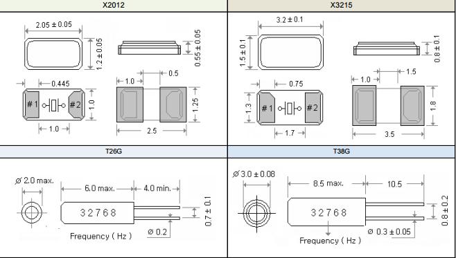 玛居礼晶振,石英晶振,T26G晶振,2060mm圆柱插件晶振